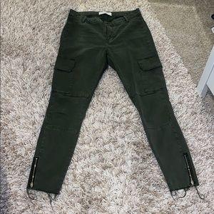 Zara hunter green cargo skinnies